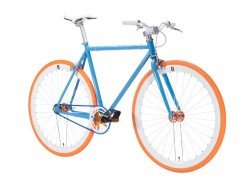 Vélo fixie blue orange