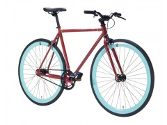 Vélo fixie red pistache