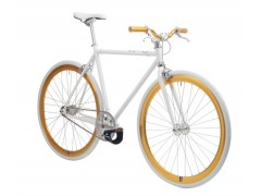 Vélo fixie white gold