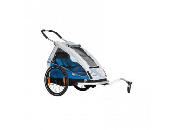 Remorque à vélo 1 enfant XLC MONO8TEEN BS-C08 Bleu