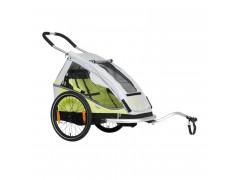 Remorque à vélo 1 enfant XLC MONO8TEEN BS-C08 Citron